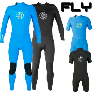 E18-FLY-Black-Blue-fullsuit-shorty-BZ-FZ-FT-logo